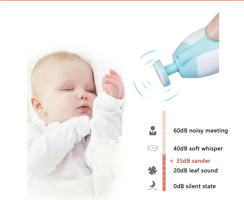 Portable Electric Nail Clipper & Safe Nail Trimmer for Babies