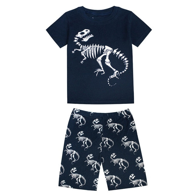 Dino Skeleton Sleepwear Kids Pajamas Set