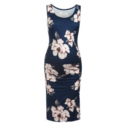 Maternity Round collar Floral full print Longline Tank Sleeveless Dress = BabyAlex, Afterpay Available, Toddler Clothes, Diaper Bag, Designer Diaper Bag, Diaper Bag Backpack, Baby Shop Australia, Alex Collections, Baby Clothe Australia