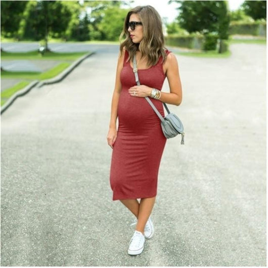 Smart Casual Solid Sleeveless Pregnancy Dress Ruby = BabyAlex, Afterpay Available, Toddler Clothes, Diaper Bag, Designer Diaper Bag, Diaper Bag Backpack, Baby Shop Australia, Alex Collections, Baby Clothe Australia