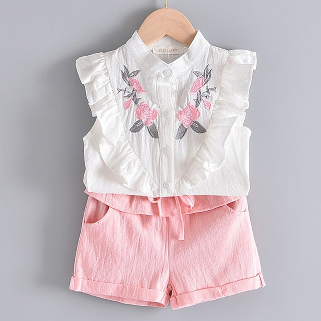 White Floral Top And Pink Short = BabyAlex, Afterpay Available, Toddler Clothes, Diaper Bag, Designer Diaper Bag, Diaper Bag Backpack, Baby Shop Australia, Alex Collections, Baby Clothe Australia