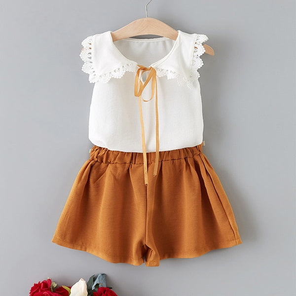 White Top and Ginger Shorts Set = BabyAlex, Afterpay Available, Toddler Clothes, Diaper Bag, Designer Diaper Bag, Diaper Bag Backpack, Baby Shop Australia, Alex Collections, Baby Clothe Australia