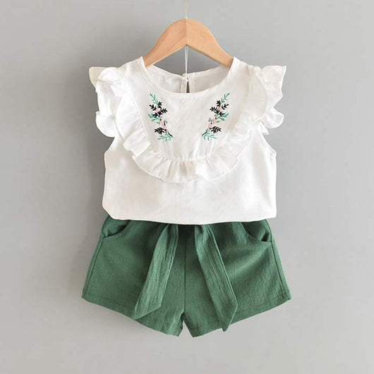 White Top and Green Shorts Set = BabyAlex, Afterpay Available, Toddler Clothes, Diaper Bag, Designer Diaper Bag, Diaper Bag Backpack, Baby Shop Australia, Alex Collections, Baby Clothe Australia