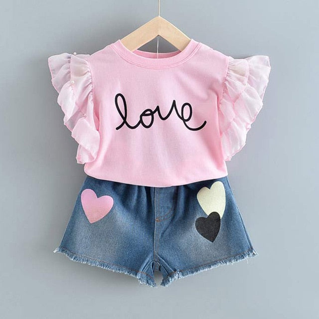Pink Top And Denim Short = BabyAlex, Afterpay Available, Toddler Clothes, Diaper Bag, Designer Diaper Bag, Diaper Bag Backpack, Baby Shop Australia, Alex Collections, Baby Clothe Australia
