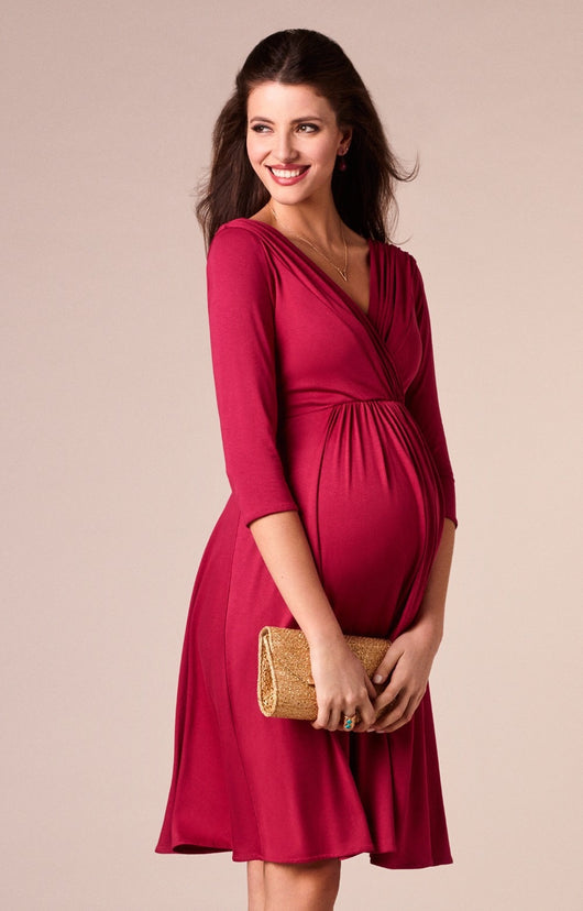 Classic Maternity V-neck Burgundy Long-sleeve Nursing Dress = BabyAlex, Afterpay Available, Toddler Clothes, Diaper Bag, Designer Diaper Bag, Diaper Bag Backpack, Baby Shop Australia, Alex Collections, Baby Clothe Australia