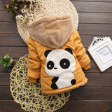 Panda Yellow Girls and Boys Warm Outerwear Hooded Winter Jacket = BabyAlex, Afterpay Available, Toddler Clothes, Diaper Bag, Designer Diaper Bag, Diaper Bag Backpack, Baby Shop Australia, Alex Collections, Baby Clothe Australia