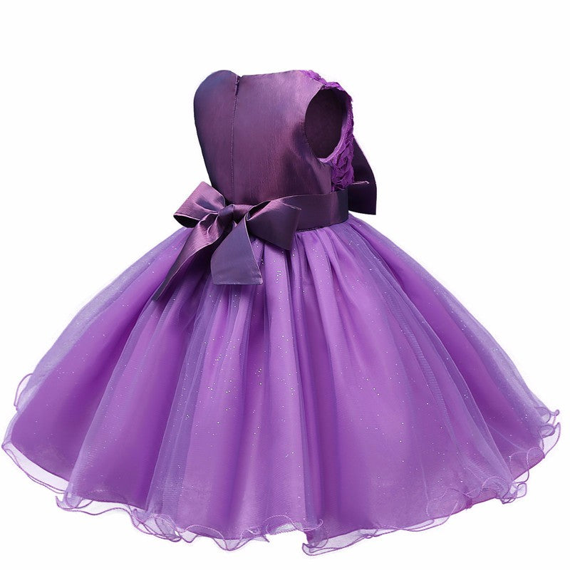 Lovely Magenta Fairy Floral Sleeveless Princess Dress - Baby Alex, baby clothes, baby shoes, diaper bag, Maternity clothes