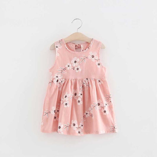 Pretty Pink Floral Cotton Sleeveless Dress for Girls = BabyAlex, Afterpay Available, Toddler Clothes, Diaper Bag, Designer Diaper Bag, Diaper Bag Backpack, Baby Shop Australia, Alex Collections, Baby Clothe Australia