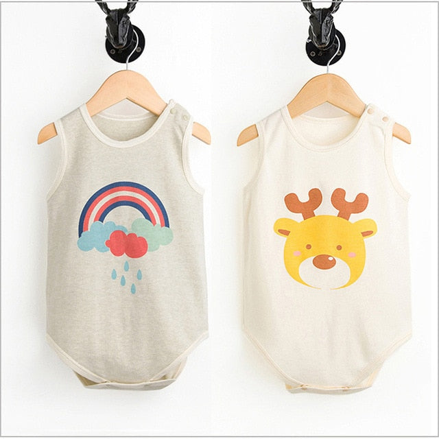 Cute 2 Pcs Organic Cotton Baby bodysuit - Baby Alex, baby clothes, baby shoes, diaper bag, Maternity clothes