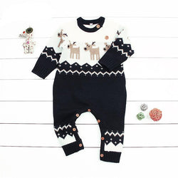 Newborn Baby Romper Christmas Clothes Knitted Sweater Reindeer Outfit = BabyAlex, Afterpay Available, Toddler Clothes, Diaper Bag, Designer Diaper Bag, Diaper Bag Backpack, Baby Shop Australia, Alex Collections, Baby Clothe Australia