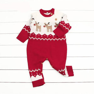 Newborn Baby Romper Christmas Clothes Knitted Sweater Reindeer Outfit - Baby Alex, baby clothes, baby shoes, diaper bag, Maternity clothes