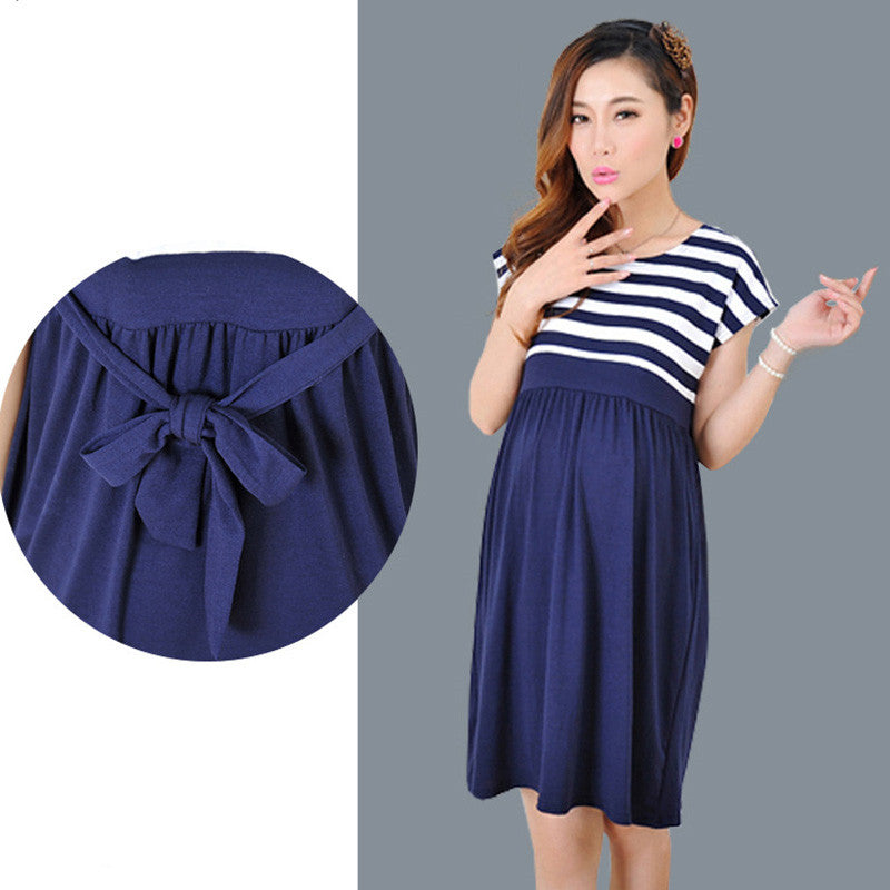 Maternity Women's Stripe Knee Length Dress - Baby Alex, baby clothes, baby shoes, diaper bag, Maternity clothes
