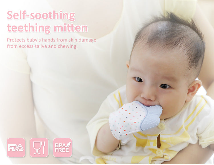 Baby Teething Mitten Soothing Pain Relief Teether - Baby Alex