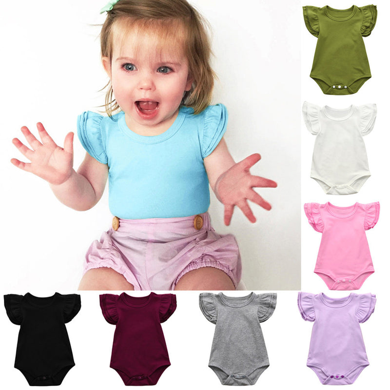 Baby Girls Ruffles Sleeve Rompers - Baby Alex, baby clothes, baby shoes, diaper bag, Maternity clothes