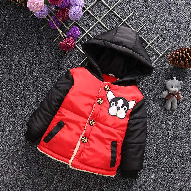 Cute Puppy Girls and Boys Warm Outerwear Hooded Winter Jacket - Baby Alex, baby clothes, baby shoes, diaper bag, Maternity clothes