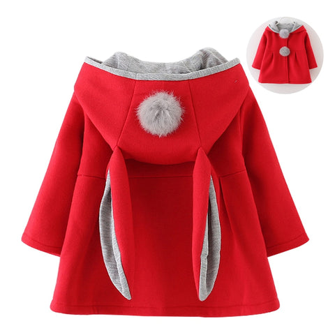 a588ec012 Bunny Ear Style Baby Girls Winter Hooded Jacket – Baby Alex