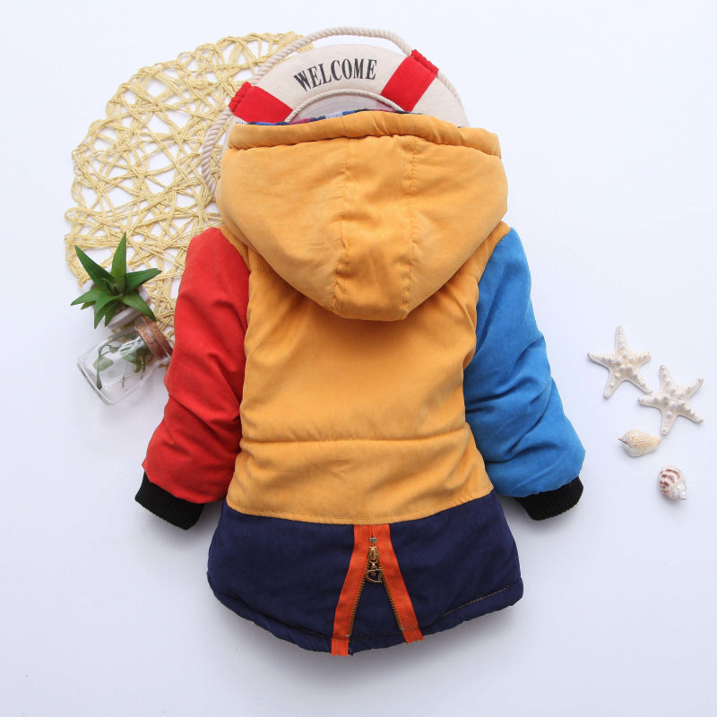 Multi Yellow Girls and Boys Warm Outerwear Hooded Winter Jacket - Baby Alex, baby clothes, baby shoes, diaper bag, Maternity clothes