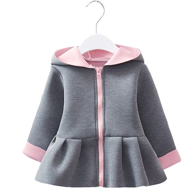 Bunny Ear Style Baby Girls Winter Hooded Jacket - Baby Alex, baby clothes, baby shoes, diaper bag, Maternity clothes