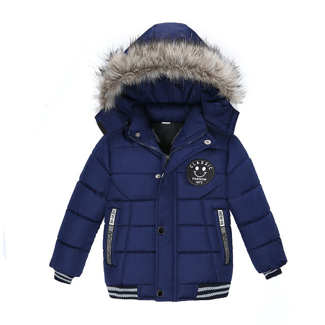 Royal Blue Boys Winter Warm Jacket - Kids Outerwear Hoodie Jacket - Baby Alex, baby clothes, baby shoes, diaper bag, Maternity clothes