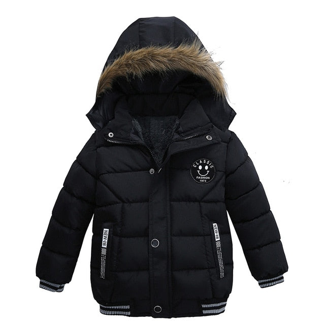 All Time Black Winter Warm Jacket - Kids Outerwear Hoodie Jacket - Baby Alex, baby clothes, baby shoes, diaper bag, Maternity clothes