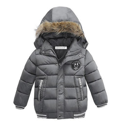 Cool Grey Boys Winter Warm Jacket - Kids Outerwear Hoodie Jacket = BabyAlex, Afterpay Available, Toddler Clothes, Diaper Bag, Designer Diaper Bag, Diaper Bag Backpack, Baby Shop Australia, Alex Collections, Baby Clothe Australia