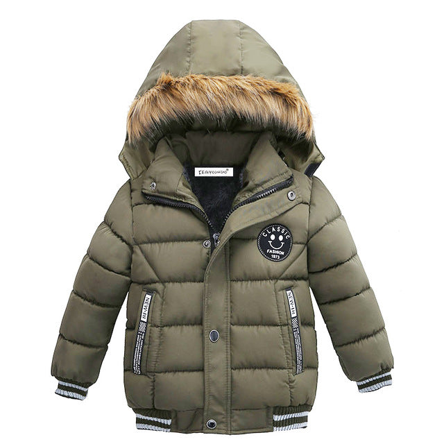 Evergreen Boys Winter Warm Jacket - Kids Outerwear Hoodie Jacket - Baby Alex, baby clothes, baby shoes, diaper bag, Maternity clothes