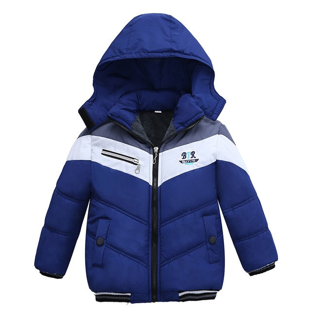 Smart Blue Toddler Baby Winter Warm Hoodies Jacket - Baby Alex, baby clothes, baby shoes, diaper bag, Maternity clothes