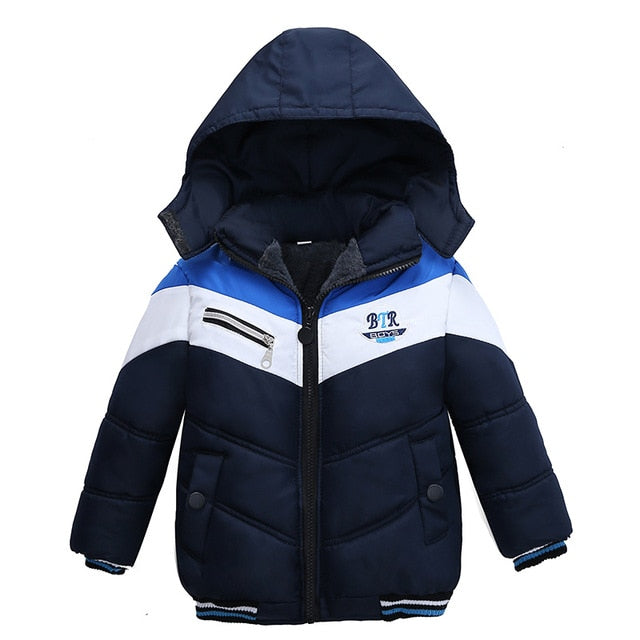 Smart Black Toddler Baby Winter Warm Hoodies Jacket - Baby Alex, baby clothes, baby shoes, diaper bag, Maternity clothes