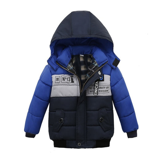 Blue & Black Toddler Baby Winter Warm Hoodies Jacket = BabyAlex, Afterpay Available, Toddler Clothes, Diaper Bag, Designer Diaper Bag, Diaper Bag Backpack, Baby Shop Australia, Alex Collections, Baby Clothe Australia