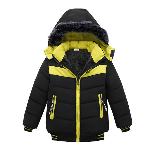 Lemon & Black Toddler Baby Winter Warm Hoodies Jacket - Baby Alex, baby clothes, baby shoes, diaper bag, Maternity clothes