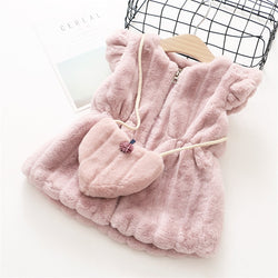 Elegant Autumn Winter Baby Girl Outerwear Jacket with Bag = BabyAlex, Afterpay Available, Toddler Clothes, Diaper Bag, Designer Diaper Bag, Diaper Bag Backpack, Baby Shop Australia, Alex Collections, Baby Clothe Australia