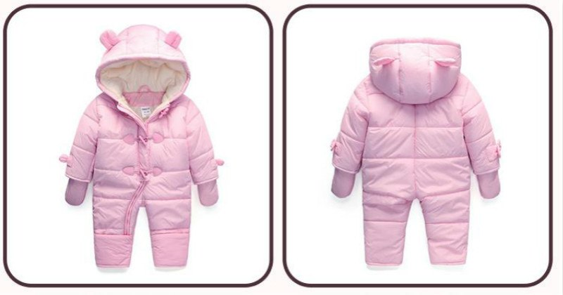 Cute Hooded Winter Jumpsuit for Babies - Baby Alex
