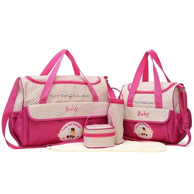 Multi-functional 5 pcs Baby Diaper Bag Set - Baby Alex