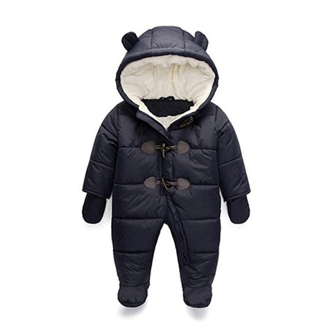 Panda Red Girls and Boys Warm Outerwear Hooded Winter Jacket