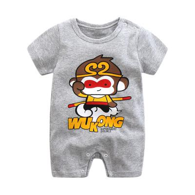 5PCS/LOT Unisex Top Quality Baby Rompers Short Sleeve Cottom O-Neck 0-12M