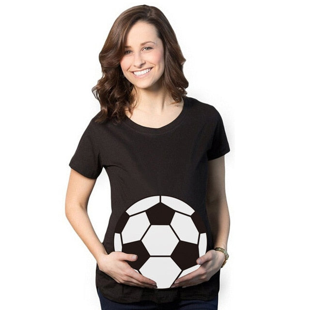 Stylish Football Maternity T-shirt