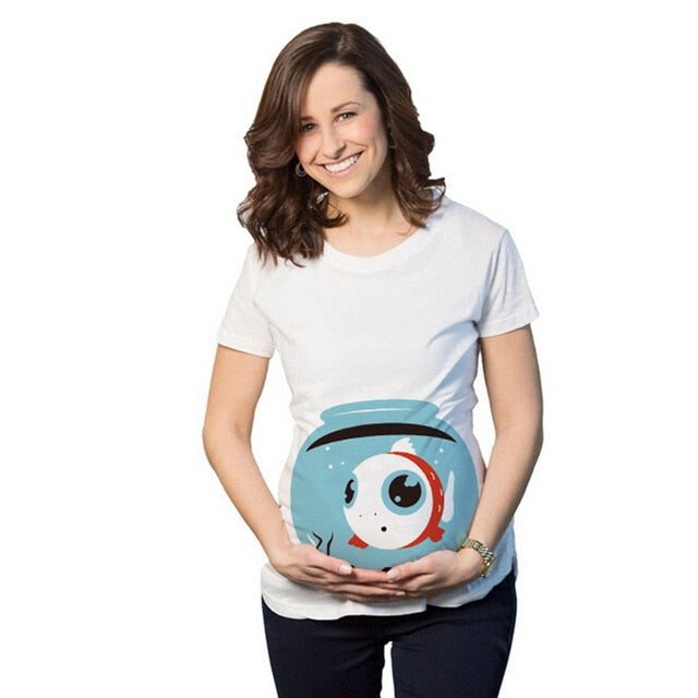 Fun Fish In The Tank Maternity T-shirt