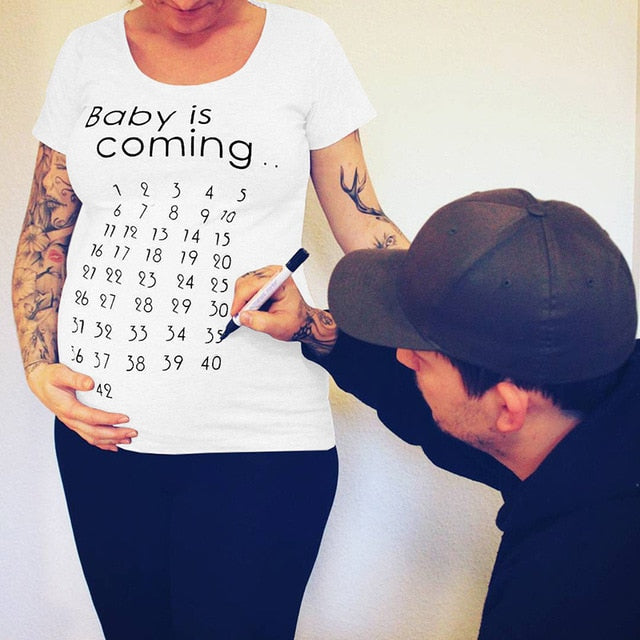 Fun Baby Is Coming Maternity T-shirt
