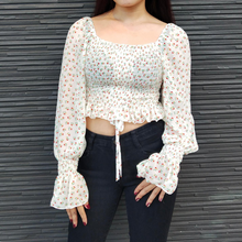 Load image into Gallery viewer, CHIFFON FLORAL CROP TOP (BUY 1 GET 1)
