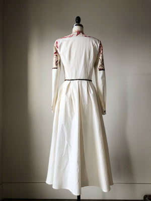 19th century antique toile and cotton shirt dress size 0