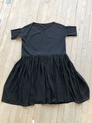 basic summer goth chiffon and jersey crinoline dress