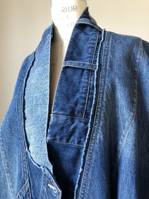 archival patched denim cocoon