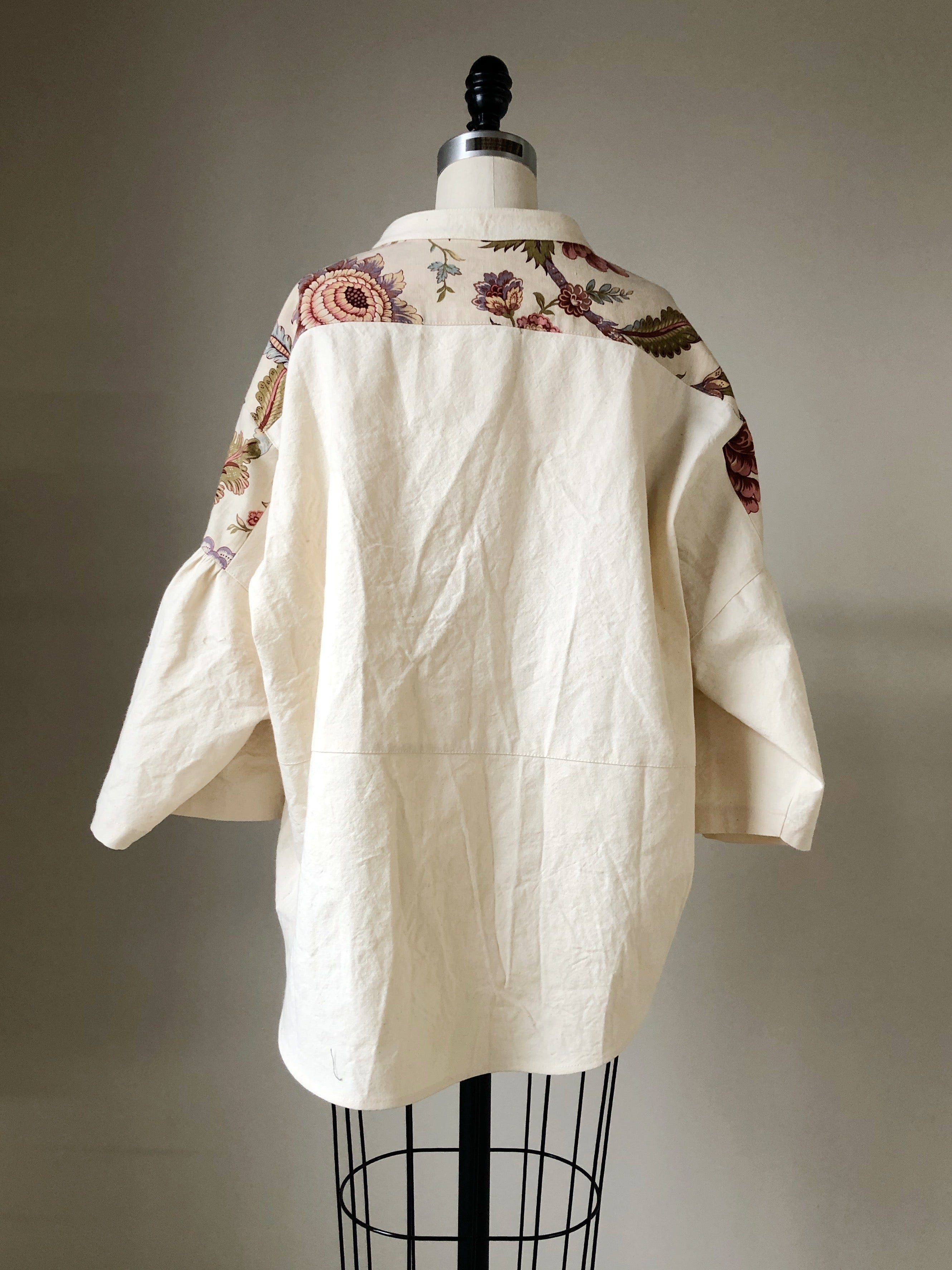 19th century indienne print big shirt
