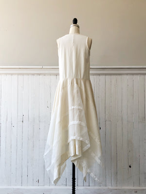 organza and jersey tank dress