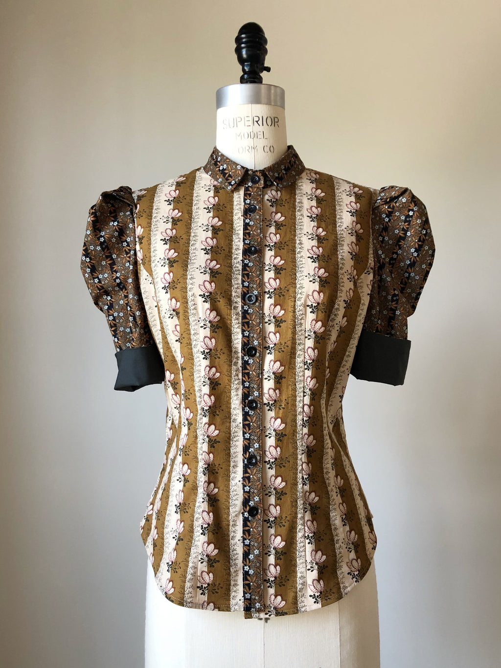 Lillian work shirt in 19th century reproduction prints #2