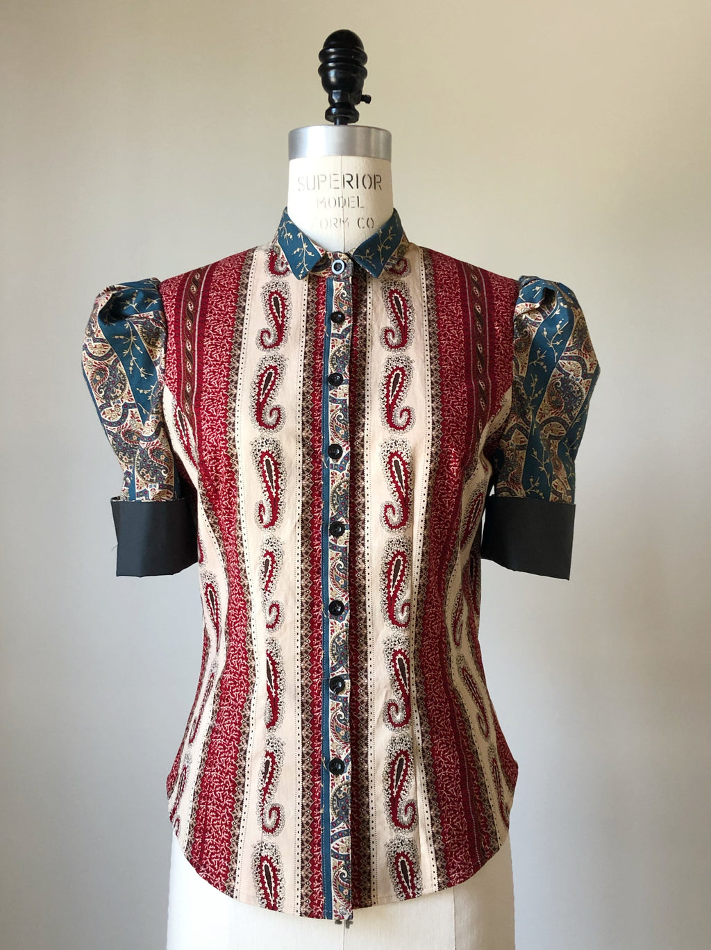 Lillian work shirt in 19th century reproduction prints #3