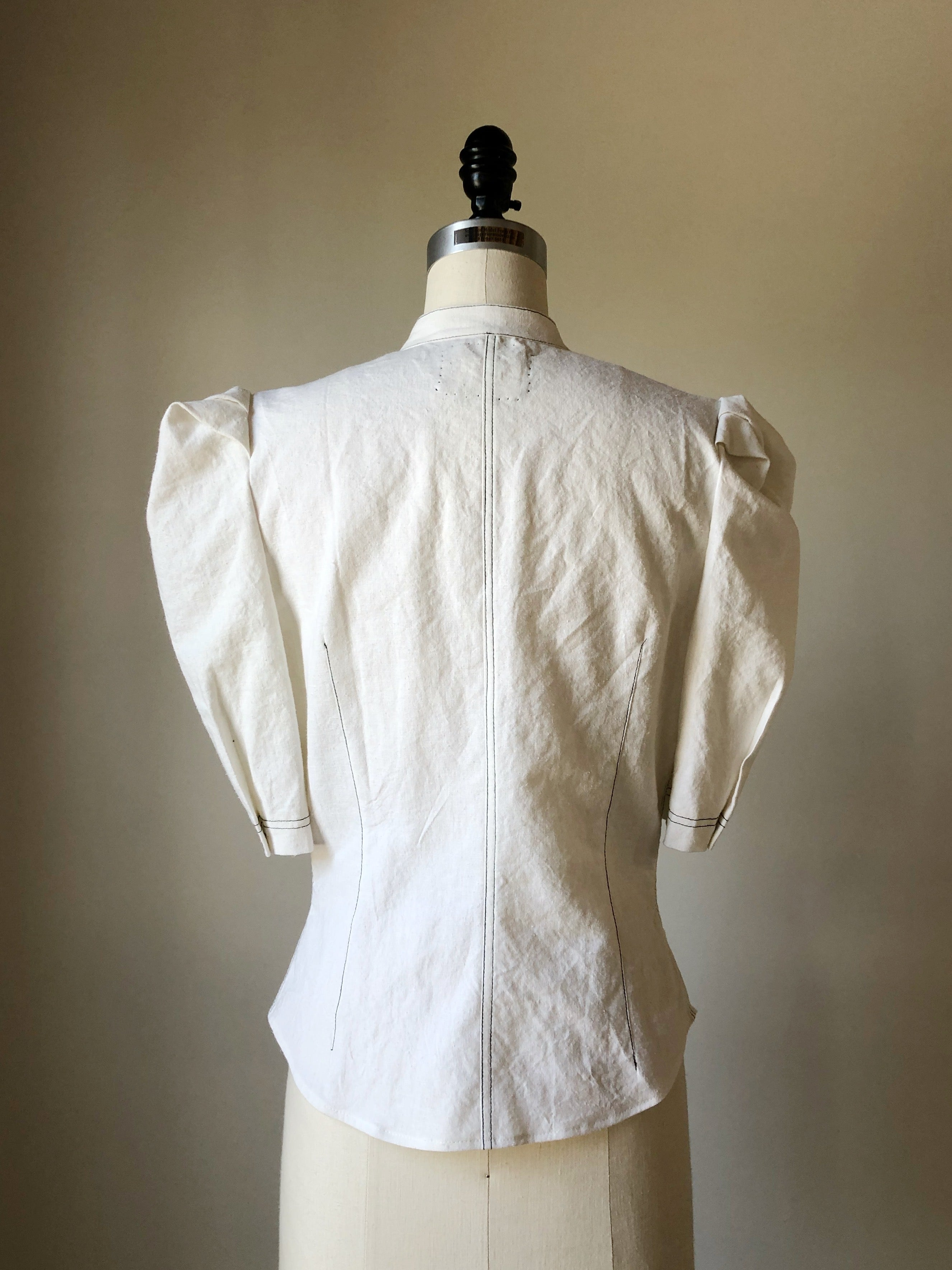Lillian work shirt in white