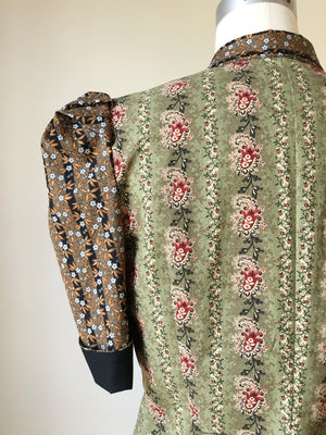 Lillian work shirt in 19th century reproduction prints #4