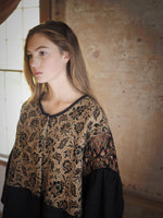 19th century jacobean jacquard big shirt