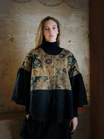 19th century jacobean french jacquards patched big shirt